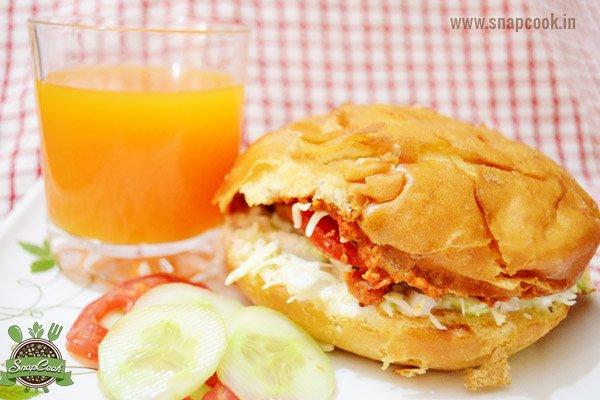 Chana Tikki Burger