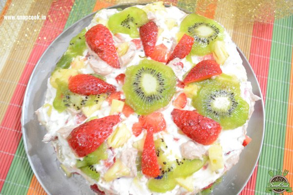 Fresh Fruit Cake in Microwave
