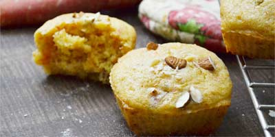 Eggless Carrot Muffins Recipe – Wholewheat Carrot Muffins