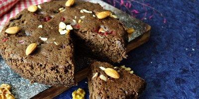 Eggless Wholewheat Cake in Microwave – No Oil/No Butter
